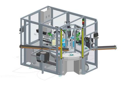 3D view of rotary indexing table