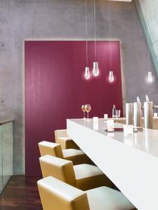 Glasgewebe, modern inszeniert: Das strapazierfähige Capaver ElementEffects besticht mit klaren Strukturen, die in jedem gewünschten Farbton, auch mit Metallocryl Interior, beschichtet werden können. Foto: Caparol Farben Lacke Bautenschutz