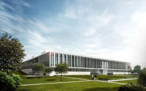 The WITTENSTEIN Innovation Factory as it will look at the official opening in spring 2014 / HENN Architekten