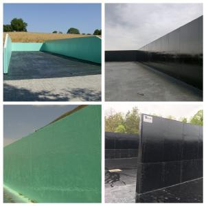 Bild 1 - Einleitung Fahrsilos sind Säure, Nässe und Sonne ausgesetzt. Silolack schützt den Beton.