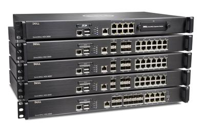 Alle neuen Geräte der Dell SonicWALL NSA-Serie im Stack