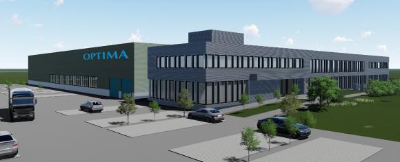 Neues Optima Logistikzentrum in Schwäbisch Hall: Geplanter Bezug ist Ende 2018. Die innerstädtischen Transporte sollen sich dann um etwa zwei Drittel reduzieren
