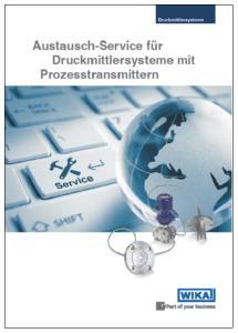 WIKA Flyer Austauschservice für Druckmittler mit Prozesstransmittern