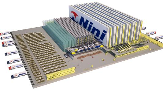 ricardo_nini_3d_depiction - The new distribution center for Ricardo Nini S.A. will ensure the efficient supply of more than 3,000 stores in the Buenos Aires area as well as the directly connected store