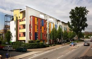 """Der Wiesbadener Wohnpark Rheingaublick, auch als """"Brömerviertel"""" bekannt (Quelle: Brömer)"""