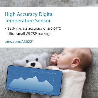 ams innovation delivers the world's most accurate digital temperature sensor for wearable devices and data centers