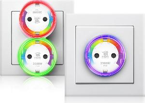 Fibaro Wall Plug with Crystal RGB LED-Ring