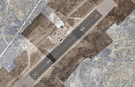 Mosaic of the airfield - Pictures taken by the 16 Megapixel CCD-Camera Prosilica GE4900C