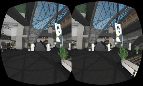 BIM – Building Information Management in a virtual world slightly shifted per eye