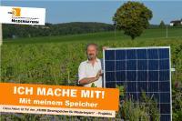 """""""Ich mache mit"""", sagt auch Walter Danner, DGS Sektionsprecher in Niederbayern und stolzer Stromspeicherbesitzer."""