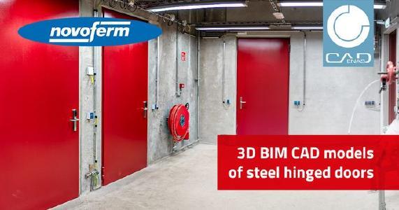 3D BIM catalog for steel hinged doors opens the door to digitization for Novoferm