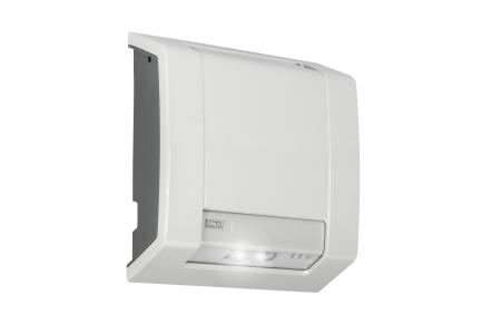 Lutia, das neue LED-Beleuchtungssystem von ABB für den Außenbereich, ist als Decken- oder Wandmontage sowohl als Normalbeleuchtung als auch als Sicherheitsbeleuchtung geeignet