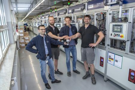 From left to right: Robert Schwär (Head of Mini Factory 3), Christian Mootz, Sebastian Heyna, Thomas Horn (all members of Mini Factory 3)