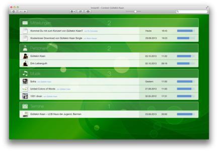 Screenshot für private Anwendung