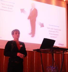 Valentine Cambier von der Citrix Systems GmbH liess ihre IT-Kollegen antreten