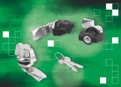 norelem liefert Drehriegelverschlüsse aus Kunststoff, Edelstahl und Zink-Druckguss in verschiedenen Ausführungen – auch mit Knebelbetätigung (Foto). Die Riegel sind teilweise abschließbar