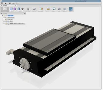 Die Komponente erscheint kurz darauf in der CAD Lösung Autodesk Fusion 360 und es kann damit gearbeitet werden