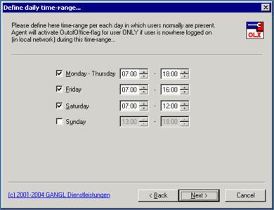 Automatische Aktivierung/Deaktivierung des Abwesenheitsassistenten