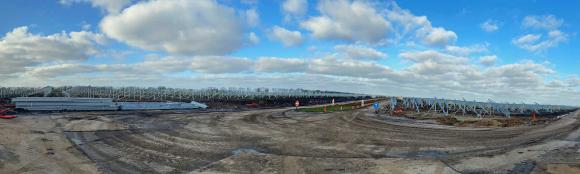 Construction of Vlagtwedde Solarpark