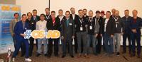 Tobias Wagner (2. von links) und Mark Hlawatschek (3. von links) von der ATIX AG mit den OSAD-Referenten