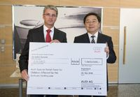AUDI AG donates to earthquake victims in China