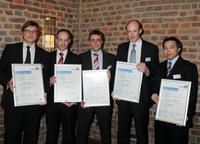 Das BTC Team (v.l.n.r.) Tobias Reich, Andreas Ziesenintz, Lorenz Meyer, Olaf Berg und Jannik Gerken