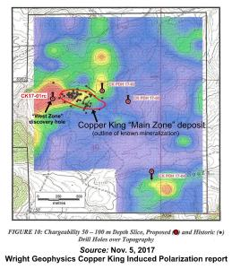 Wright Geophysics Copper King Induced Polarization report