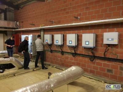 Delta RPI solar inverters installed in city building in Middlekerke
