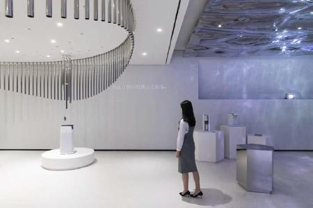 From the Water into the Air Zone: There, a sensor starts air cleaners, the breeze that results from that produces tones in a sound installation / copyright: D'art Design Seoul Ltd.