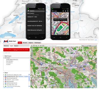 Business POI to make work and client spots visible for faster dispatching