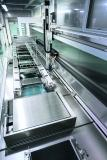 Up to nine cleaning and rinsing steps can be integrated into the cleaning system and variably equipped for use with single, dual and multi-frequency ultrasonics.  Image source: UCM AG
