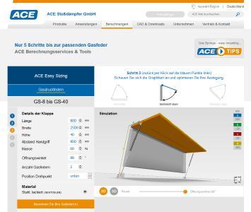 jetzt live bei ace neues online gasfeder. Black Bedroom Furniture Sets. Home Design Ideas
