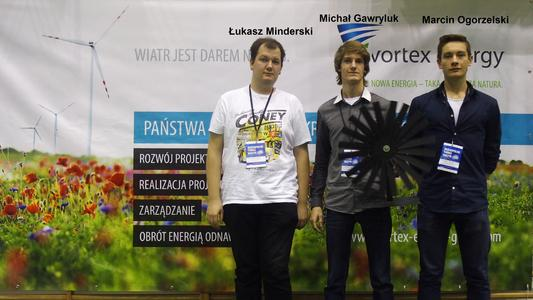 """1st place - Team """"TURBOTURBINA"""" of Secondary School No. 1 in Piaseczno"""