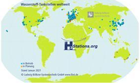 Rekordzahl neu eröffneter Wasserstoff-Tankstellen im Jahr 2020