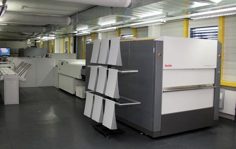 Gesamtansicht der CTP-Anlage mit den beiden KODAK GENERATION NEWS Systemen
