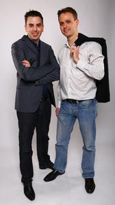 Die Echobot Gründer Bastian Karweg und Jannis Breitwieser 2