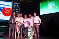 Shop Usability Award Verleihung 2017 - v.r.n.l.: Michael Jäkel (NetMed/Praxisdienst), Claus Biedermann (dotfly), Michael Heine (Praxisdienst), Christian Luis (dotfly)