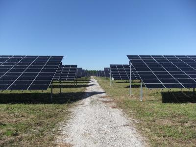 Luxcara's solar power plant St Symphorien in France / Photo credit: Luxcara