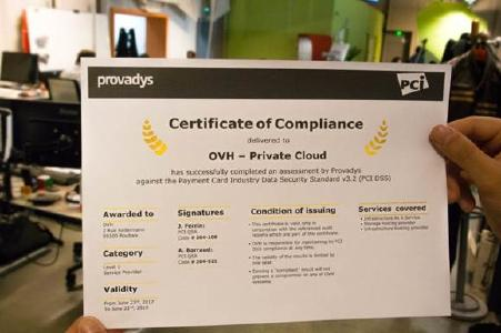 OVH Payment Infrastructure zertifiziert nach PCI DSS 3.2