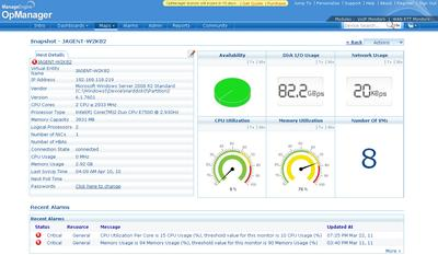 OpManager 9.0 - Dashboard