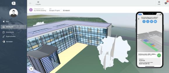 NOVA BIM Viewer - Bauabrechnung am 3D Modell mit der Nova Aufmaß App