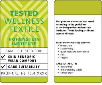 "The new ""Tested wellness textiles"" label from the Hohenstein Institute stands for comfortable clothes that are easy to care for"