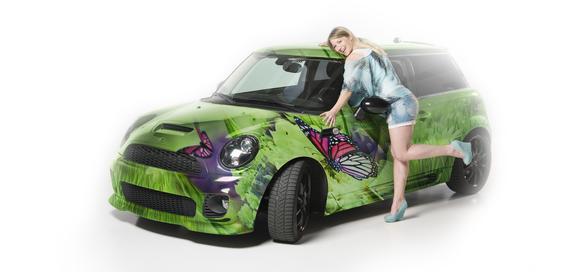 Ob verschiedene Farben, graphische Elemente wie Blumen oder Ralleystreifen oder ein komplett selbst kreiertes Design – bei der Autofolierung sind der Kreativität keine Grenzen gesetzt, Foto: 3M
