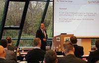 Michael Reichle, Geschäftsführer der Dr. Städtler Transport Consulting GmbH & Co. KG, bei der Begrüßung und Eröffnung des Fachkongresses