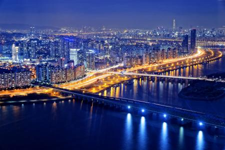 An overview photo of Seoul, where the Grundfos sales office is located