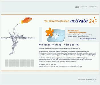 Die neue Website der activate24 GmbH & Co. KG wurde mit dem freien CMS TYPOlight produziert.