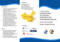 Flyer 2. Deutsch-chinesische Automobilkonferenz