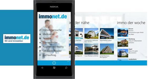 Jetzt kostenlos downloaden: Immobilien-App von Immonet für Windows Phone 7 mit integrierter Live-Suche, Sonnenfinder und Routenplaner
