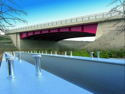 Abb. 1:Feuerverzinkte Stahl-Verbund-Brücken sind wirtschaftlicher als beschichtete Brücken / Foto: DEGES