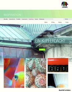"""Inspirativ, bildintensiv, kreativ – Besucher können in spannende Oberflächen, Trendberichte, Farb- und Oberflächenstories abtauchen - wie hier mit dem Kreativbeispiel """"Grünspan Patina"""" (Fotos: Caparol Farben Lacke Bautenschutz)"""